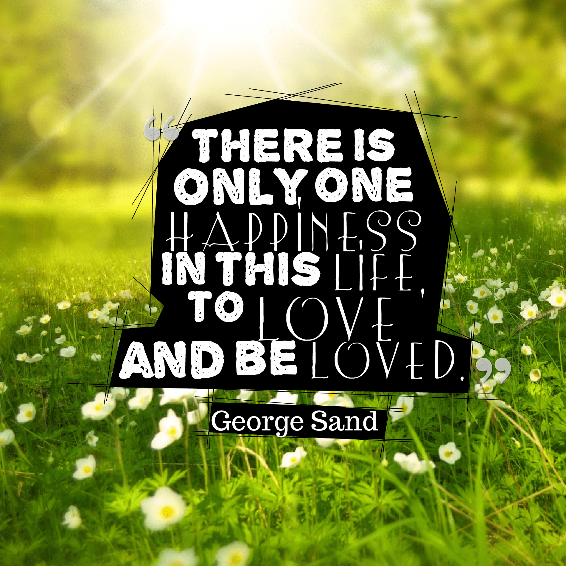 Quotes image of There is only one happiness in this life, to love and be loved.