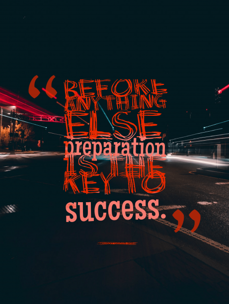 Alexander Graham Bell 's quote about preparation,success. Before anything else, preparation is…