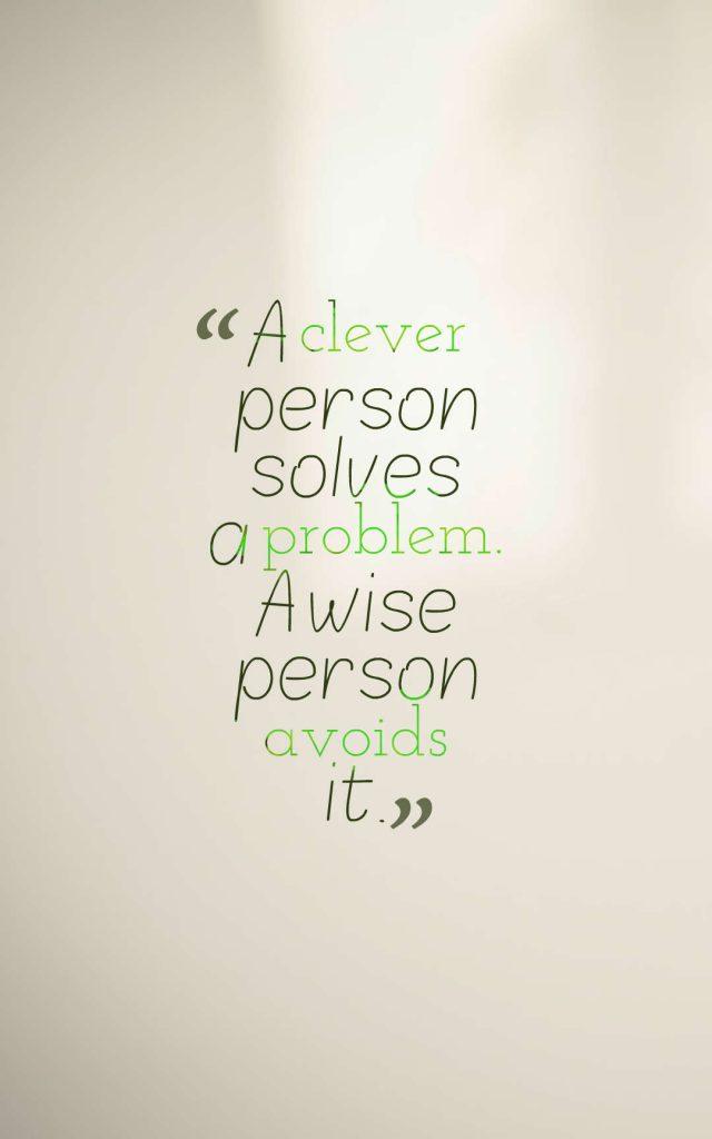 Albert Einstein quote about clever.