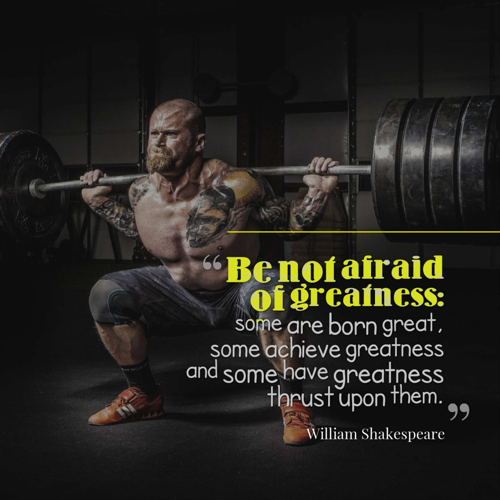 Be not afraid of greatness