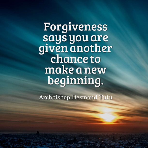 Archbishop Desmond Tutu quote about forgiveness.
