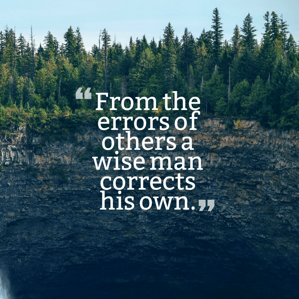 Quotes image of From the errors of others a wise man corrects his own.