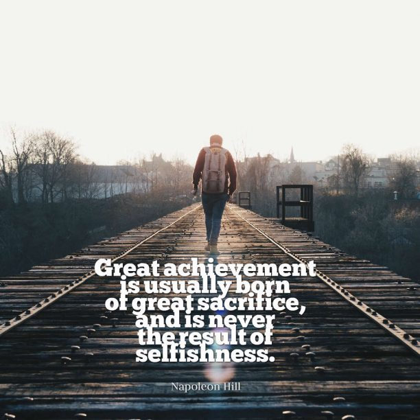 Napoleon Hill quote about achievement.