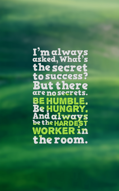 "Dwayne ""The Rock"" Johnson 's quote about hardwork,humble,success. I'm always asked, What's the…"