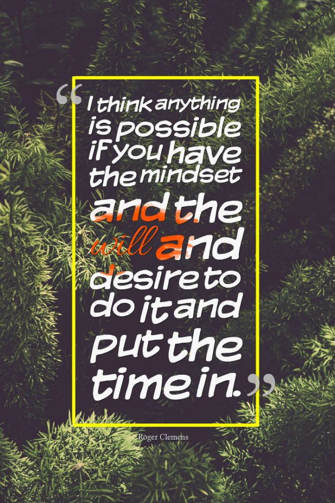 Quotes image of I think anything is possible if you have the mindset and the will and desire to do it and put the time in.