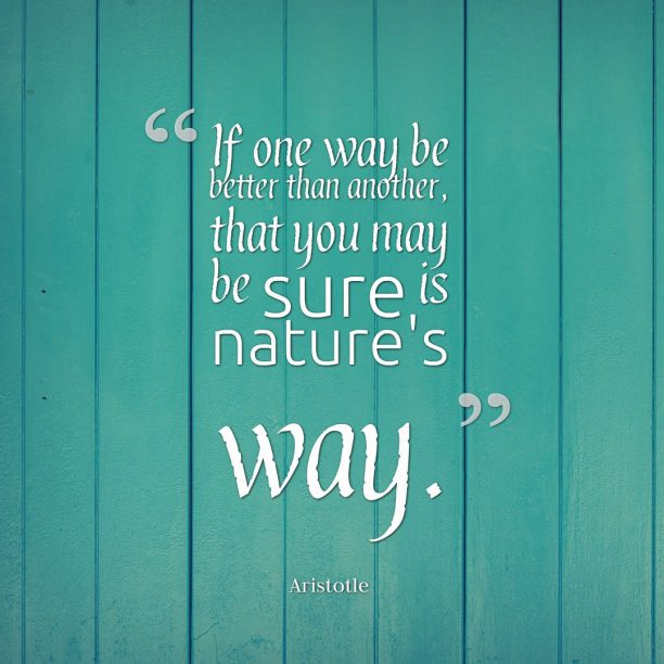 Aristotle quote about nature.