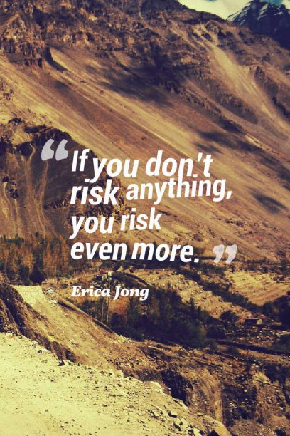 what happen if you risk everything