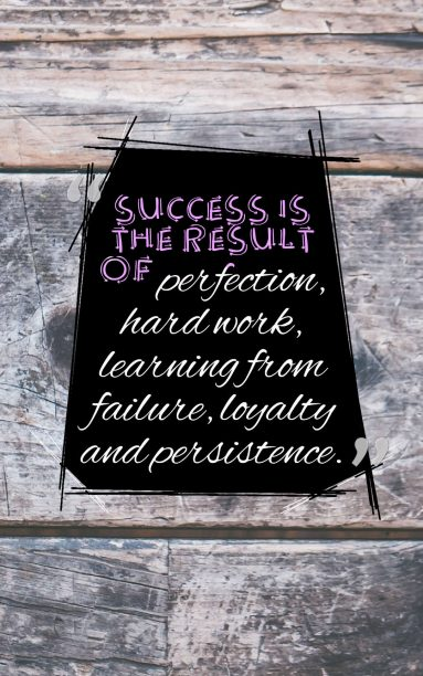 success is the result of:
