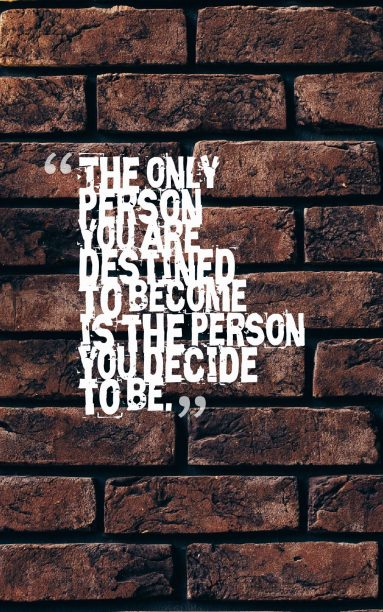 Ralph Waldo Emerson 's quote about person. The only person you are…