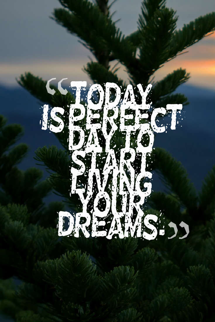 hi-res image of Today is perfect day to start living your dreams.