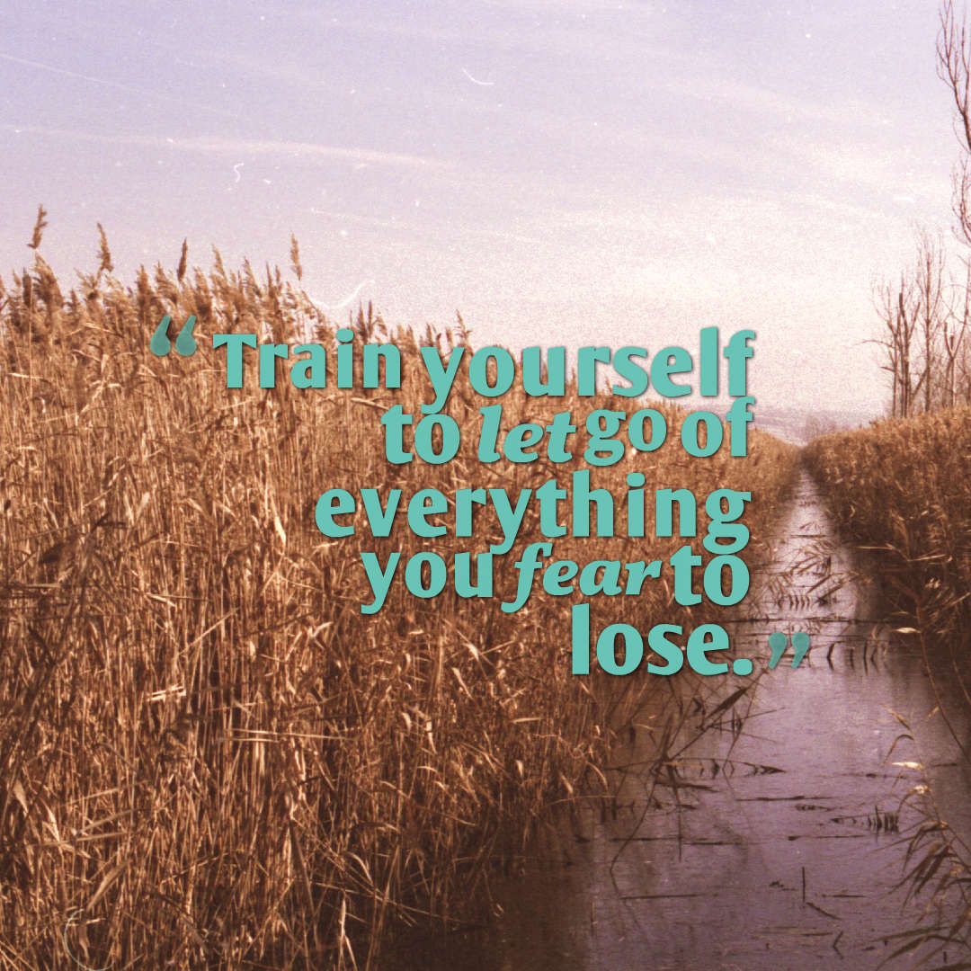 Quotes image of Train yourself to let go of everything you fear to lose.
