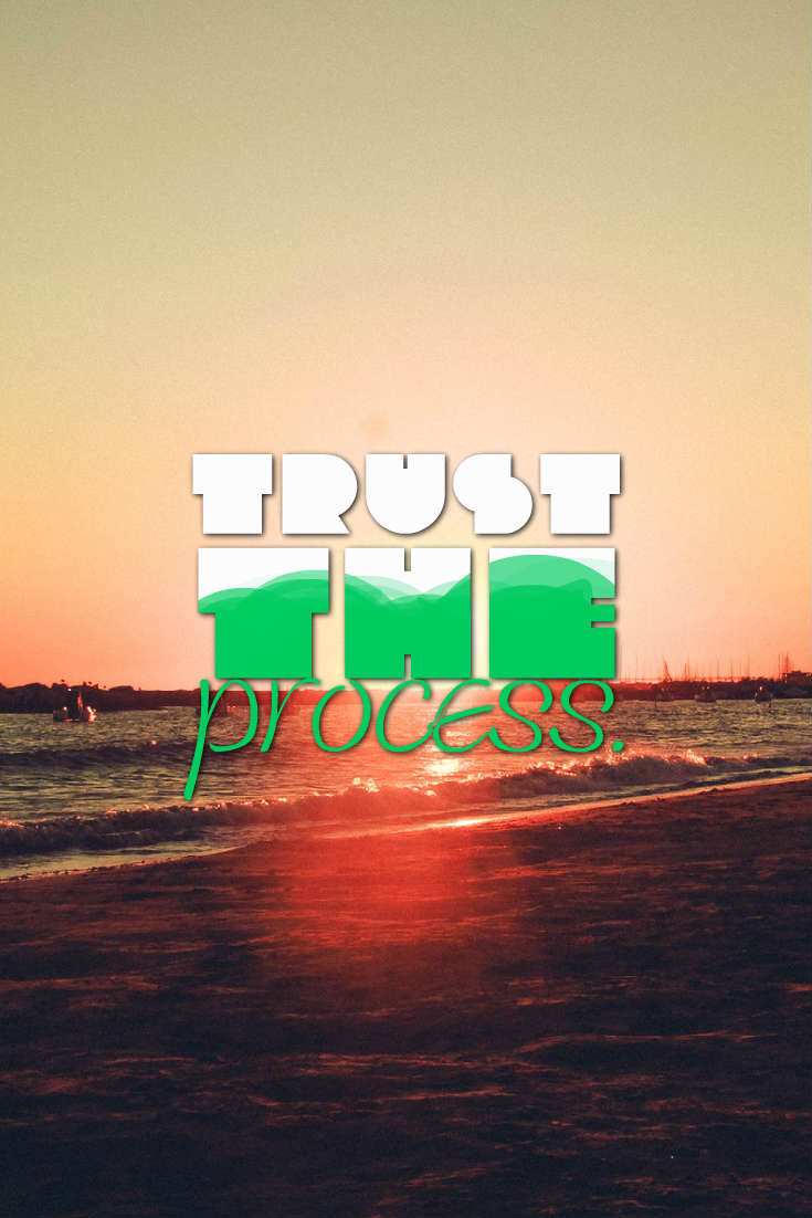 Quotes image of Trust the process.