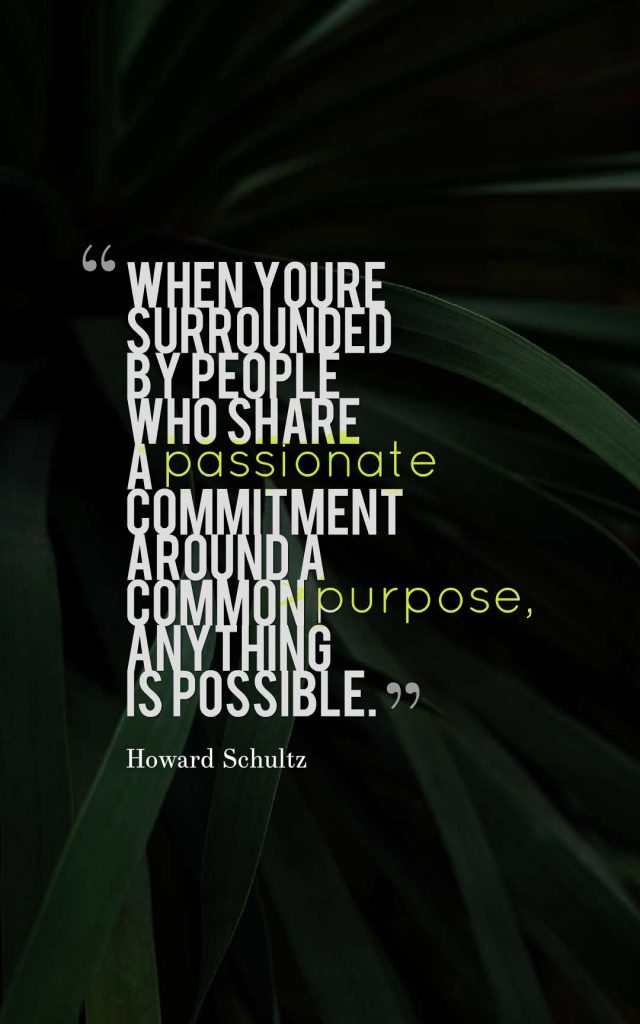 Best advice about teamwork from Howard Schultz