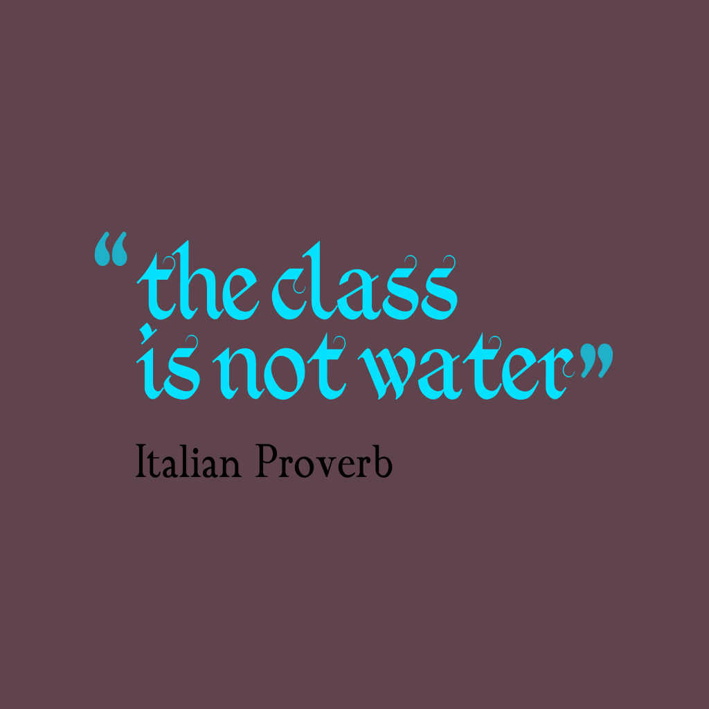 Italian proverb about lesson.