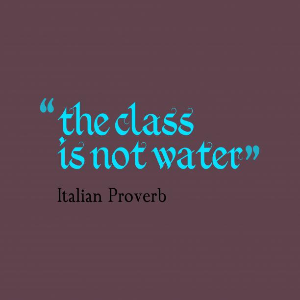 Italian wisdom about lesson.
